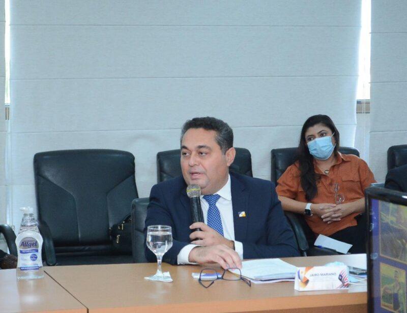 Jairo Mariano, durante reunião com as equipes do Tocantins e Maranhão – Foto:  Flávio Cavalera