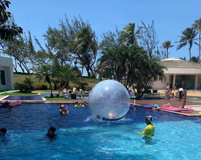 As crianças terão programação especial no domingo com a recreação aquática - Foto: Divulgação