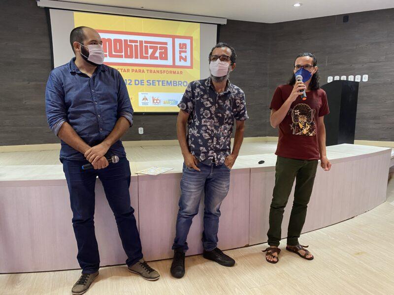 Designers e quadrinhistas apresentam as iniciativas que irão executar durante o Mobiliza SLZ – Foto: Divulgação