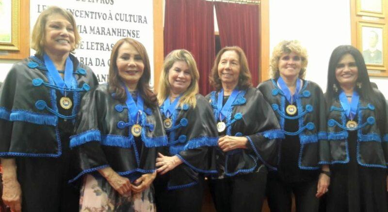 Ceres Fernandes, Jucey Santana, Dilercy Adler, Miriam Angelim, Ana Luiza Ferro, Clores Holanda. – Foto: Acervo Ana Luiza de Almeida Ferro