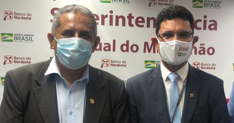 Paulo Montanha (Presidente do Sindetur/MA) e Danivan Lacerda (Superintendente do BNB) - Foto: Divulgação