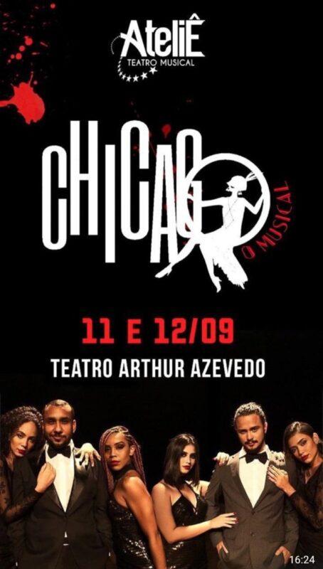 Cartaz da peça junto com o elenco, data e lugar das apresentações. – Imagem: Tainan Lopes