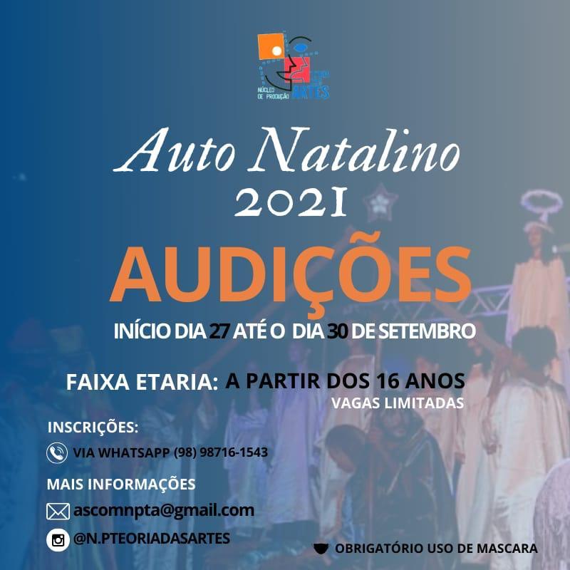 Cartaz com informações sobre as audições – Imagem: Divulgação