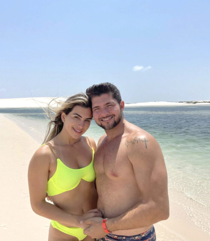 A ex- Miss Maranhão Lorensa Bessani e o marido empresário José Gonçalves Jr. são visitantes frequentes da região – Foto: Instagram/Divulgação