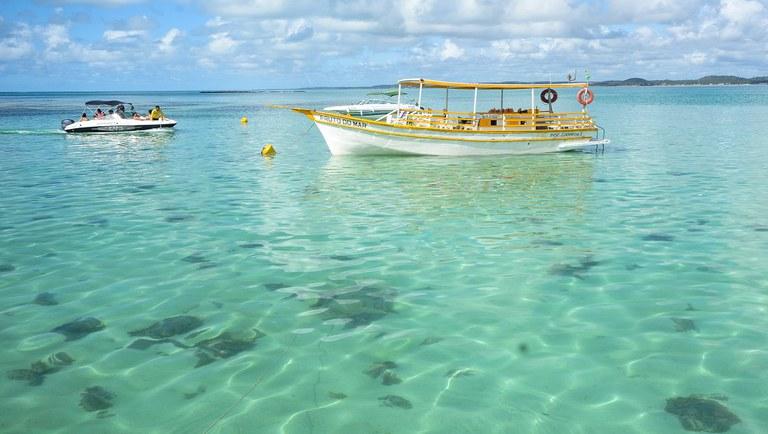 Piscinas naturais de Maragogi, no estado de Alagoas – Foto: Marco Ankoski/MTur Destinos
