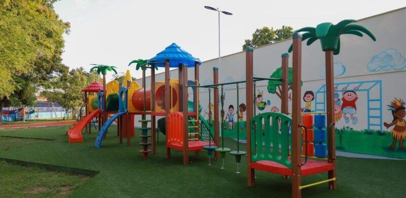 Áreas de lazer e diversão para criançada no Parque João do Vale, na cidade de Pedreiras - Foto: Divulgação