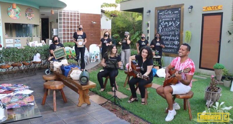 Eventos digitais: Esquina da Arte fez live-show com arte e música – Foto: Divulgação