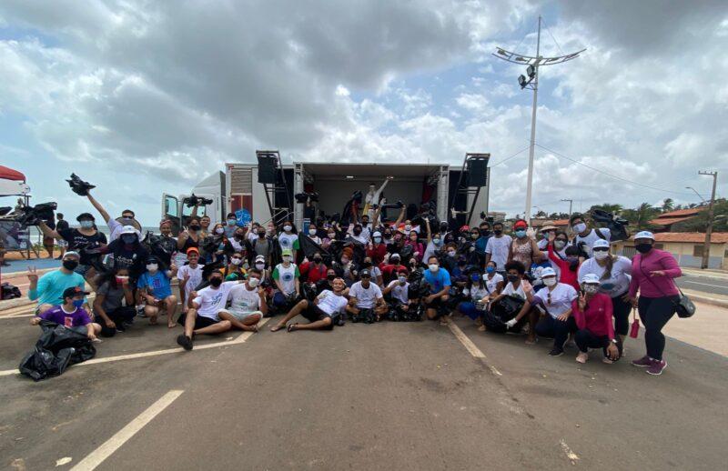 Conecta Surfe ocorreu durante 2 dias na praia do Olho d'Água, com diversas ações entre parceiros – Foto: Divulgação