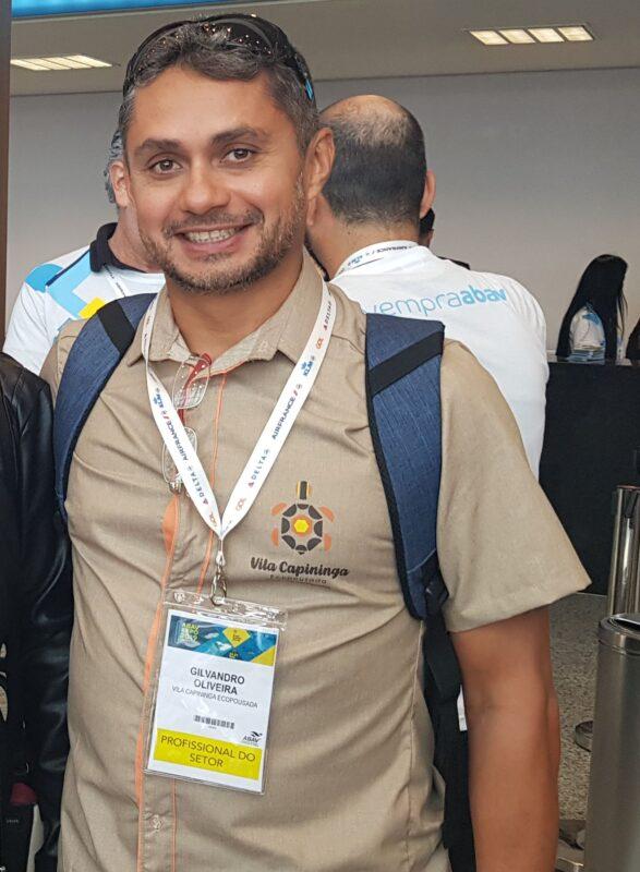 Gilvandro Oliveira, da Pousada Vila Capininga (em Santo Amaro), participa da Abav Expo & Collab 2021 com boas expectativas de negócios na retomada - Foto: Divulgação