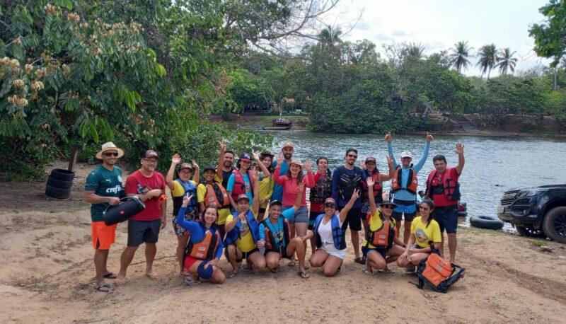 Preparativos para descida de boia do Rio Balsas – Foto: Franci Monteles
